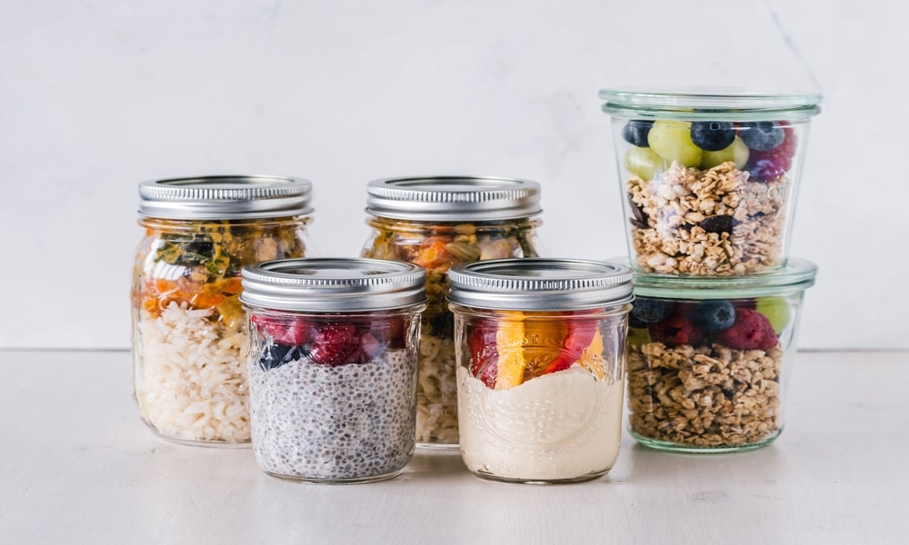 Labelled Kitchen Storage Lockable Storage Containers Airtight Pantry Jars